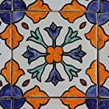 Orientalische Keramik Fliesen handbemalte marokkanische Motiv Fliese 10 x 10 cm Aya