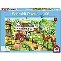 Schmidt Merry Farmyard Jigsaw Puzzle (100 Pieces)