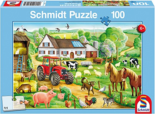 Preisvergleich Produktbild Schmidt Spiele 56003 - Fröhlicher Bauernhof, 100 Teile
