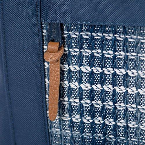 Herschel Market Tote Sporttasche, Schwarz/Tan Leather Tote Navy / Navy Knit