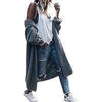 BaZhaHei Maglione a Maglia Cardigan Lunga Invernale Donna Casual Elegante Vintage Cappotto Manica a Pipistrello Moda…