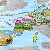 """Travelmap Weltkarte """"Scratch Edition"""" - Deutsch"""