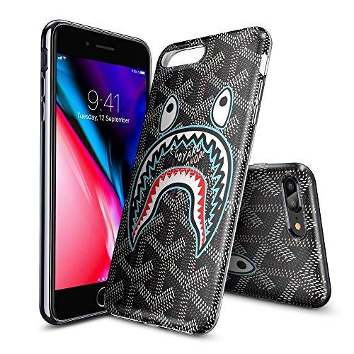one 7 Plus und iPhone 8 Plus Tasche Schutzhülle Case Cover Bumper und Anti-Scratch Löschen Back Hülle für iPhone 7 Plus/8 Plus (HD Klar KOFOOAKHD00243) (Shark-cut-out)