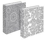 Veloflex 4142998 Briefordner Kreativ A4, Ordner, zum ausmalen, bemalen, gestalten, Motivbriefordner, 2er Set