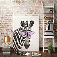 Gut Ufengke® Cartoon Tiere Zebra Ölgemälde Malerei Drucke Auf Leinwand Gemälde  Für Wandkunst Kinderzimmer Hauptdekoration Gestreckt
