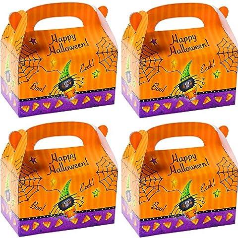 German Trendseller® - 8 er Set Happy Halloween Boxen mit Henkel zum Befüllen ┃ Geschenkebox mit Spinne ┃ Kindergeburtstag ┃ Mitgebsel ┃ Gastgeschenk ┃ Überraschungsboxen