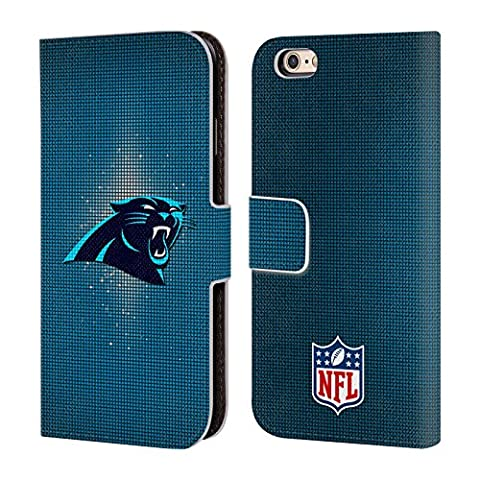 Official NFL LED 2017/18 Carolina Panthers Leather Book Wallet Case Cover For Apple iPhone 6 / 6s
