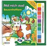 Mal mich aus! Bauernhoftiere: Vorlagen-Malbuch mit Wasserfarben