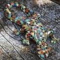 Niedlichen Paar Mosaik farbigen Eidechsen, Garten Deko aus Kunstharz