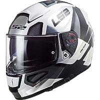 LS2 103973808XXS Casco Moto Full Face FF397 Vector FT2 Automat, Unisex, Bianco/Titanio, XXS