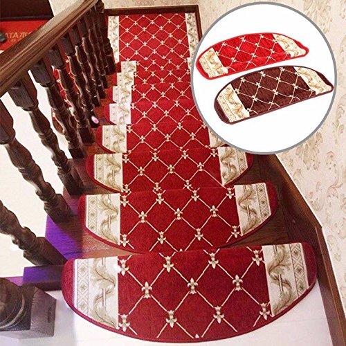 Bazaar im europäischen Stil Pastoral Teppich Stufenmatten rutschsicheren Schritt Teppiche Stufenmatten mit Magic Paste