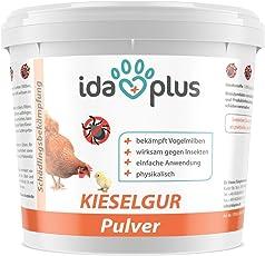 Ida Plus Kieselgur - 600 g - Kieselerde Pulver für Hühner, Geflügel & Kaninchen   Diatomeenerde als Mittel Gegen Vogelmilben, Rote Vogelmilbe, Raubmilben, Ameisen & Insekten im Hühnerstall