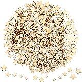 400 Piezas Mini Estrellas de Madera Rodajas Tamaño Mixto Estrella de Madera Adornos...