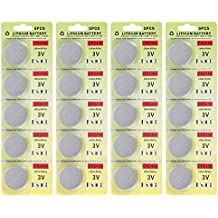 Fortune CR2450 3V Lithium Battery,Electronic Button Cell batteries for Toys Calculators Watches Led Light Candles (20 pcs)