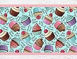 """I-love-Wandtattoo b-10067 - decoración de la cocina """"Cupcakes"""", cocina frontera decorar, 5 m"""