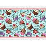 """'I Love de pared adhesivo B de 10067Cocina cenefa """"Cupcakes cenefa Cocina Pared Decoración Tarta Magdalenas, Höhe: 30 cm; Breite: 5 m"""