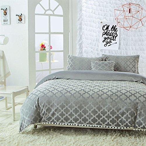 HUIYUE Einzelstück Coral Velvet Bettbezüge,Betten Bettbezug,Super weiche Verdickt Warme -H 200x230cm(79x91inch) - Solide Tröster Set