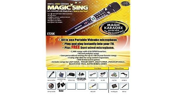 Magic Karaoke ET25K Magic Sing Plug and Sing 2,300 Mix