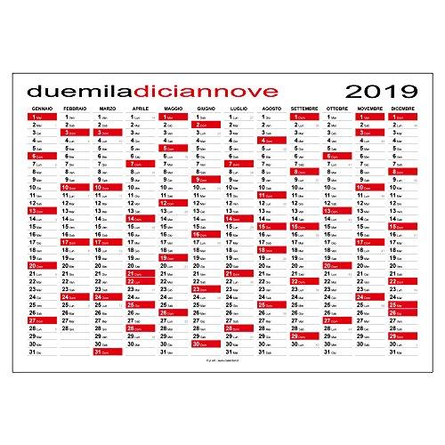 Calendario 2019 planner MAXI 118 x 84 cm planning da muro per ufficio - SPEDITO ARROTOLATO SENZA PIEGHE