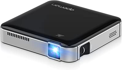 APEMAN Mini DLP Beamer Projektor Pico Projector WVGA, 1000:1 Kontrast, Support 1080P, 45000 Stunden LED Lebensdauer