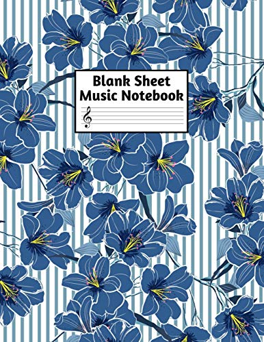 Blank Sheet Music Notebook: Easy Blank Staff Manuscript Book Large 8.5 X 11 Inches Musician Paper Wide 12 Staves Per Page for Piano, Flute, Violin, ... other Musical Instruments - Code : A4 1293 -