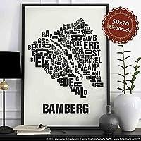 Bamberg Buchstabenort Schwarz auf Naturweiß