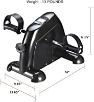 YOZO Fitness Cycle - Foot Pedal Exerciser - Foldable Portable Foot, Hand, Arm, Leg Exercise Pedaling Machine - Folding Statio