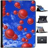Es regnet Cricketbälle Case Cover / Folio aus Kunstleder für das Apple iPad Pro 12