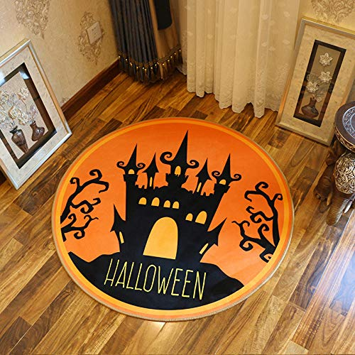 Rugs Halloween Castle 8MM Thickness Home Accessories in Soft Touch Living Bedroom Room Rug 160CM ()