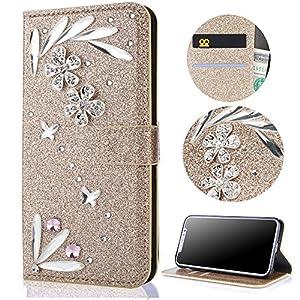 Sycode Flip Brieftasche Hülle mit Magnetverschluß Kartensteckplätze Schutzhülle Klapphülle Case Cover