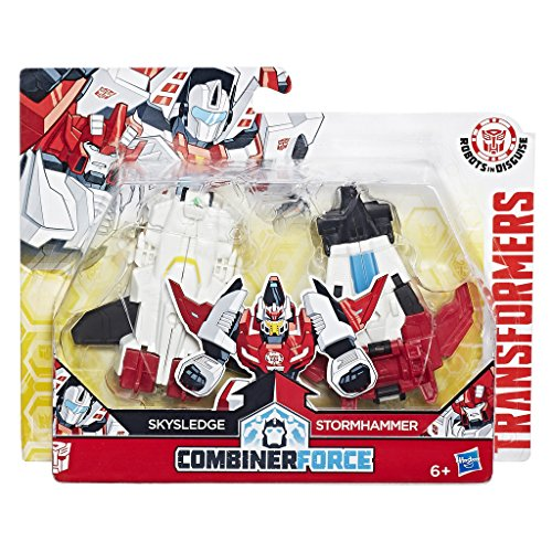 Hasbro C0631ES1 - Transformers Rid Crash Combiners Skysledge und Stormhammer, Spielset, Actionfigur