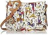 Piero Guidi Damen 213984088 Umhängetaschen, Weiß (Bianco 98), 29x18x8 cm