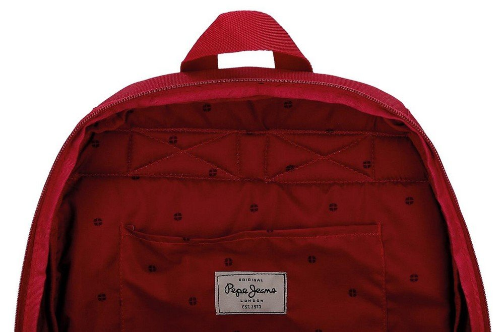 61hnXriTZTL - Pepe Jeans Harlow Mochila Escolar, 42 cm, 22.79 litros, Rojo