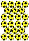 22 Aufkleber, Fußball, Sticker, 50 mm, gelb/schwarz, aus PVC, Folie, bedruckt, selbstklebend, EM, WM, Bundesliga