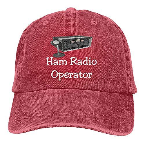 UUOnly Männer & Frauen einstellbare Baumwolle Denim Baseball Cap Ham Radio Operator Plain Cap Radio-cap-baseball-cap