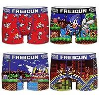 FREEGUN Boxer Briefs Men Sonic The Hedgehog (S, Pack of 4)