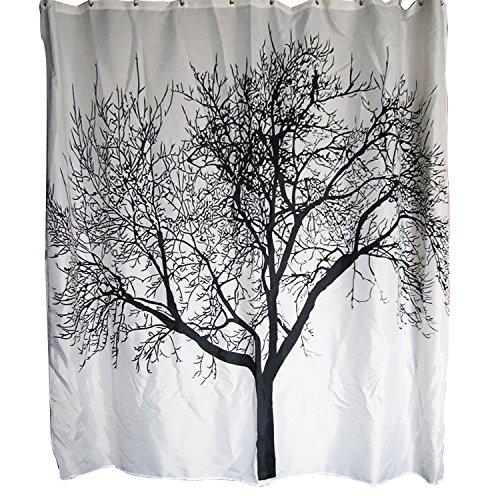 BlueSnail Shower Curtain Waterproof Bathroom Curtain (Tree Design)