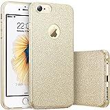 iPhone 6 / 6s Hülle Gold, VPOWER Bumper Case Hybrid Schutzhülle Glitzer [drei Schichten in einem], [weiche TPU Abdeckung + Glitzer Papier + PP innere Schicht] Hülle für Apple iPhone 6 / 6s Gold