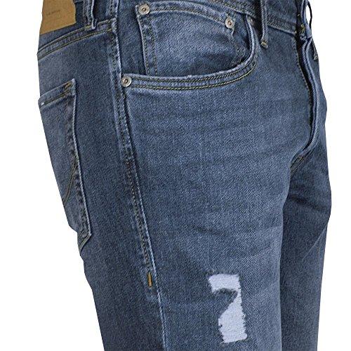Jack & Jones Herren Jeans / Straight Fit Jeans jjiTim jjOriginal AM 418 Blau