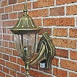 Antik-Goldene Außenwandleuchte mit Bewegungsmelder CX220331-Pir Wandlampe  Außenleuchte Sensor