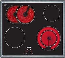Siemens ET645HN17E iQ300 Kochfeld Elektro / 58.3 cm / schwarz / Flachrahmen-Design / Digitales Funktionsdisplay