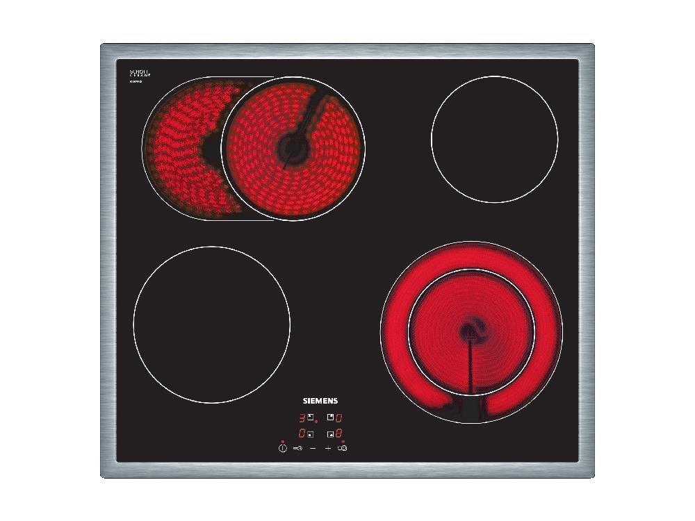 Siemens ET645HN17E iQ300 Glaskeramikkochfeld, 58,3 cm, Digitales Funktionsdisplay