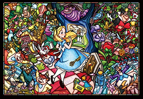 500 piece jigsaw puzzle stained art Alice in Wonderland story stained glass tightly series small pieces (25x36cm) (Glass Disney Stained Puzzle)