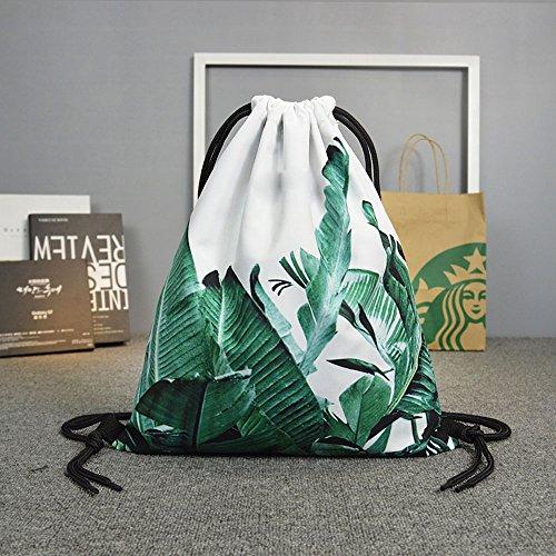 Banana leaf kordelzug kordelzug gezeiten marke hong kong kordelzug rucksack frauen freizeit sport fitness tasche männer und frauen taschen ( Color : Schwarz )