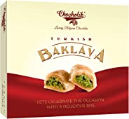 Chocholik Turkish Baklava - with Almonds & Pista - Exclusive Sweet Delight for Any Occasion, 150gm
