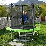 Ise trampolín Exterieur niño verde 185cm con sonido Red, escalera y sonido Kit de anclaje sy1108