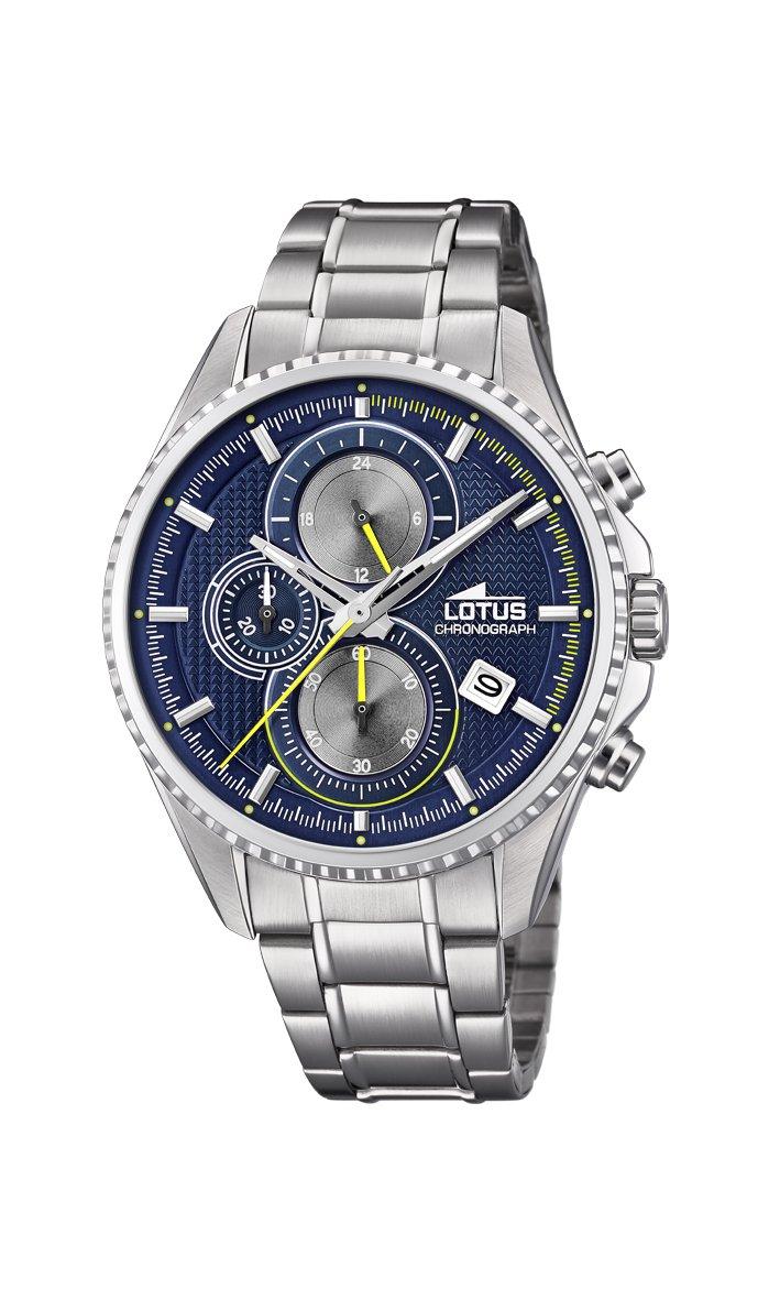 Lotus Watches Reloj Cronógrafo para Hombre de Cuarzo con Correa en Acero