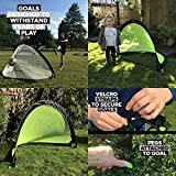 Trailblaze Pop Up Football Goal - Set of 2 Goals with 8 Training Disc Cones + Carry Case - Lightweight + Strong Pop Up Goals For The Garden, Park or Training - Choose Your Size + Colour