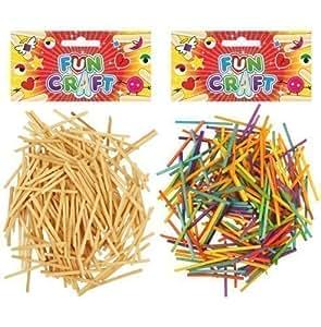 Pack de uni en bois ALUMETTES enfants loisirs créatifs fabrication cartes MODELAGE