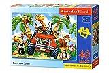 Castorland B-040131-1 - Softies on Safari, Puzzle 40 Teile maxi